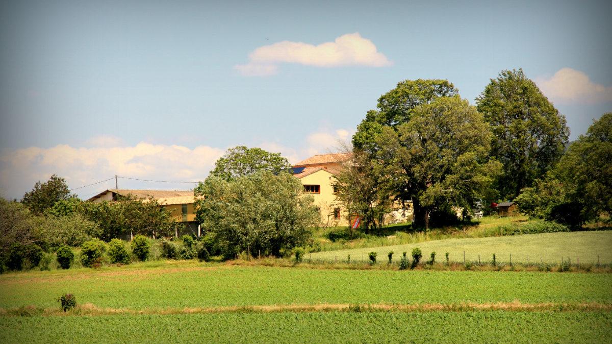 Paysage autour du gîte le Chacelou à Châteaudouble dans la Drôme